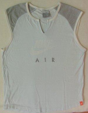Supercooles Vintage NIKE Muskelshirt, Sportshirt, blassblau mit grau, Größe DE 38/40