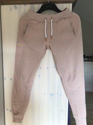 Superdry Pantalone fitness rosa antico