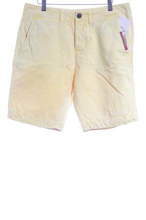 Superdry Pantalon 3/4 jaune primevère style décontracté
