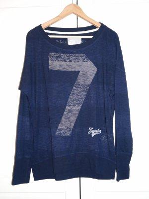 Superdry Jersey largo azul oscuro