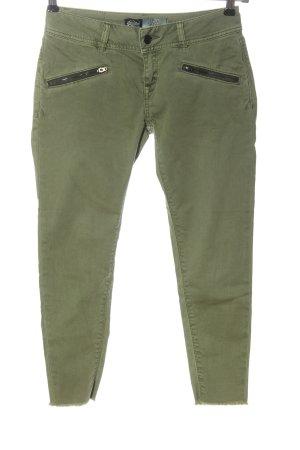 Superdry Jeans 7/8 kaki style décontracté