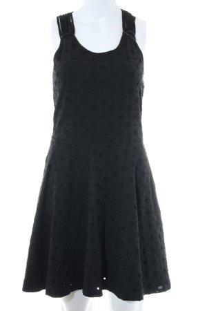 Superdry A-Linien Kleid schwarz Allover-Druck Casual-Look