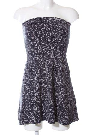 Superdry A-Linien Kleid blau-weiß Punktemuster Casual-Look