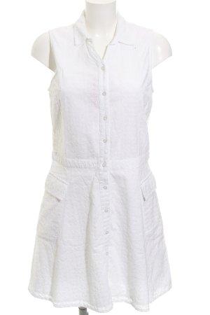 Superdry A-Linien Kleid weiß Stickereiverzierung