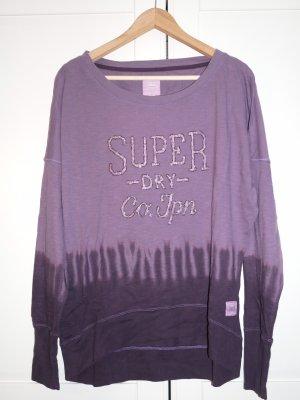 Superdry Jersey largo violeta oscuro-violeta azulado
