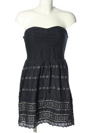 Superdry Vestido bandeau negro-blanco look casual