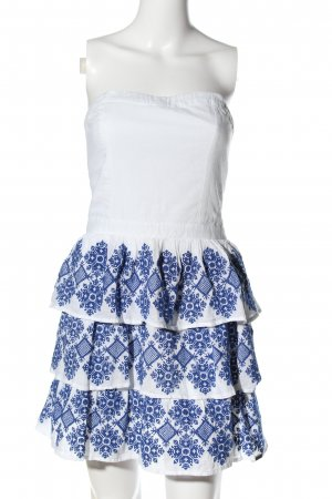 Superdry Bandeau Dress white-blue themed print casual look