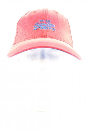 Superdry Baseball Cap pink-blue printed lettering casual look