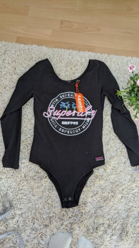 Superdry Shirtbody zwart-roze