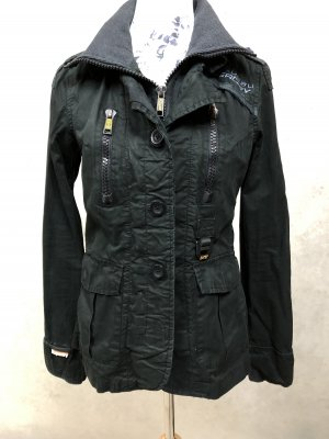 SuperDry Blazer Jacke 34 XS Black raw/used