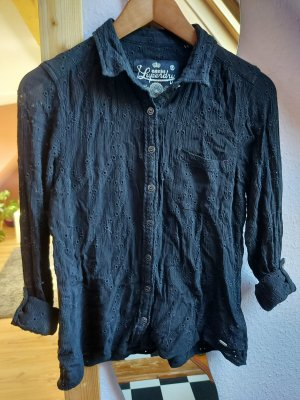 Superdry Bluse schwarz mit Spitze-Größe 36/S