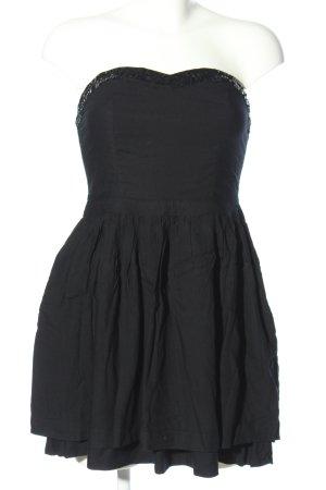 Superdry Sukienka gorsetowa czarny Z połyskiem