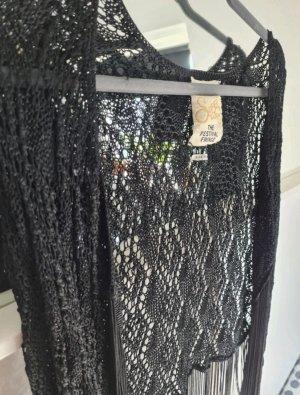 Superdry Crochet Cardigan black