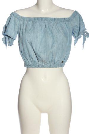 Superdry Carmen-Bluse blau Casual-Look