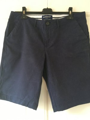 Superdry High-Waist-Shorts blue cotton