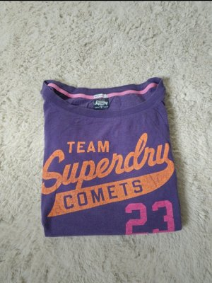 Superdry Comets Langarmshirt in lila, orange und pink