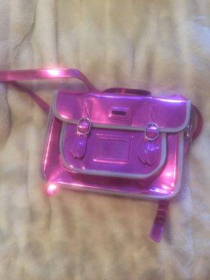 Superdry Satchel neon pink