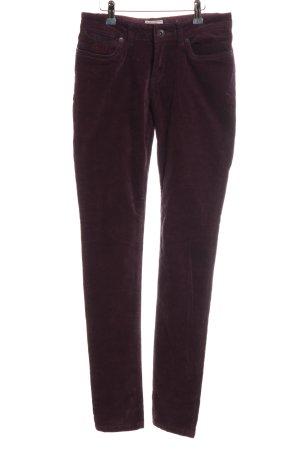 Superdry Pantalon en velours côtelé violet style décontracté