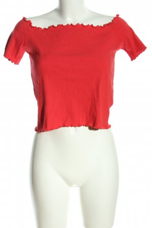 Superdry Cropped Shirt rot Casual-Look