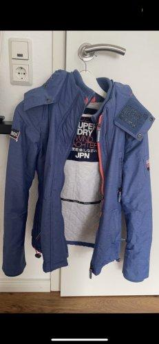 SUPER DRY Giacca a vento blu fiordaliso-rosa