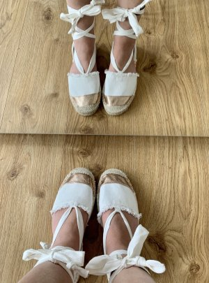 Superdry Espadrille blanc-or rose