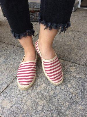 Superdry Zapatos de marinero rojo-blanco puro