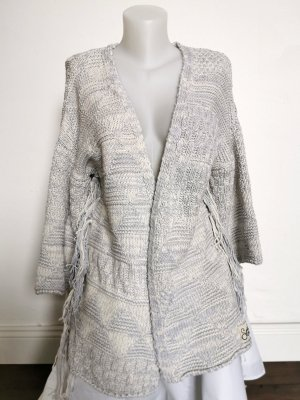 Superdry Cardigan a maglia grossa grigio chiaro-bianco sporco