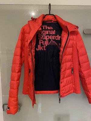 SUPER DRY Pikowana kurtka różowy-pomarańczowy