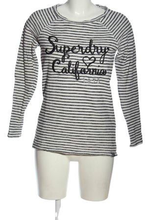 Superdry Pullover a maglia grossa nero-bianco sporco stampa integrale