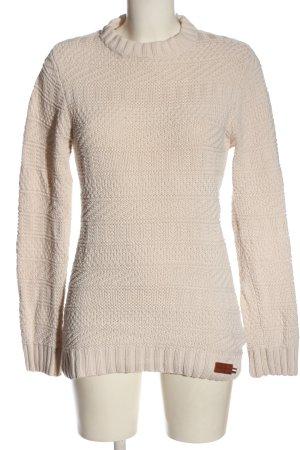 Superdry Pullover a maglia grossa crema stile casual