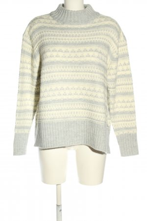 Superdry Coarse Knitted Sweater white-light grey graphic pattern casual look