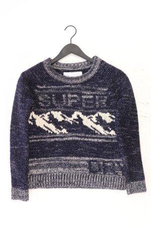 Superdry Grobstrickpullover Größe S blau aus Polyester