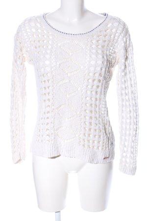 Superdry Jersey de ganchillo blanco look casual