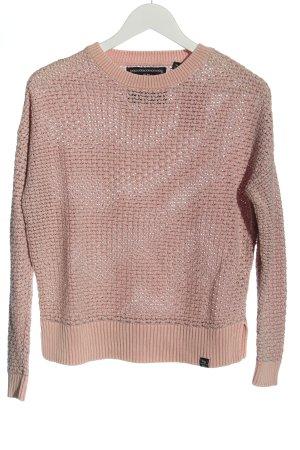 Superdry Häkelpullover pink Casual-Look