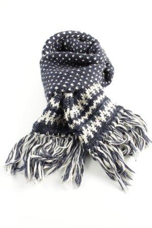 Superdry Gehaakte sjaal blauw-wit grafisch patroon casual uitstraling