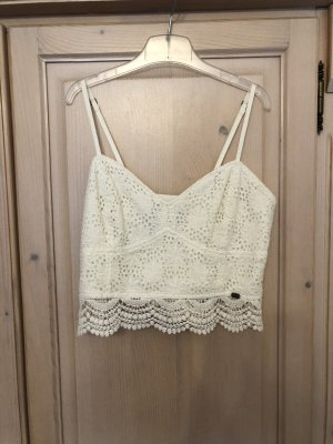Superdry Top a uncinetto bianco-bianco sporco