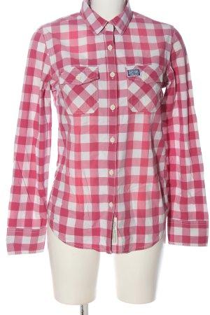 Superdry Lumberjack Shirt pink-white allover print casual look