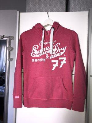 Superdry Jersey con capucha rosa-blanco