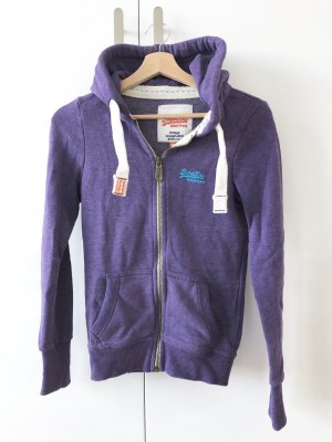 Superdry Sweat Jacket lilac-dark violet
