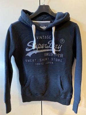 Superdry Hooded Sweatshirt dark blue-azure