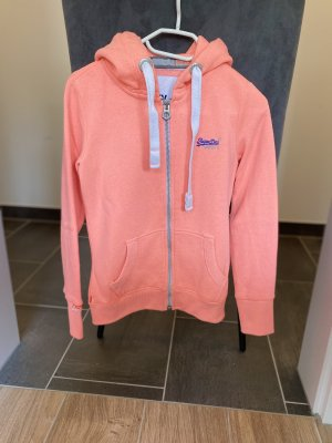 Superdry Sweter z kapturem pomarańczowy