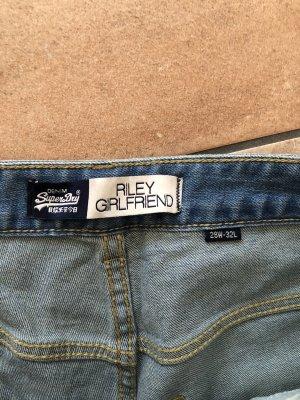 SUPER DRY Jeans a 7/8 blu
