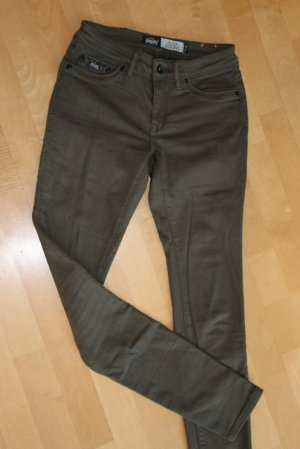 Superdry Slim Jeans olive green cotton