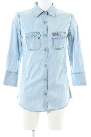 Superdry Jeansbluse blau Casual-Look