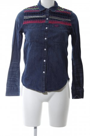 Superdry Jeanshemd blau Casual-Look