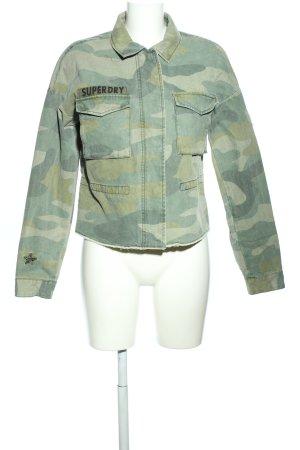 Superdry Jeansjacke khaki Camouflagemuster Casual-Look