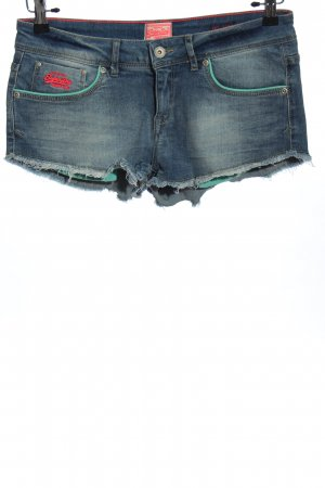 Superdry Jeansshorts blau Casual-Look