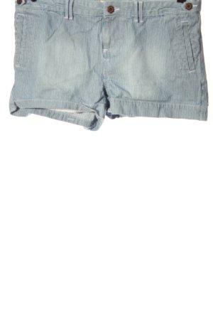 Superdry Pantalón corto de tela vaquera azul estampado a rayas look casual