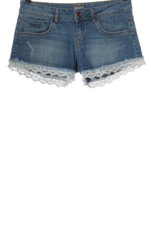 Superdry Short en jean bleu style décontracté