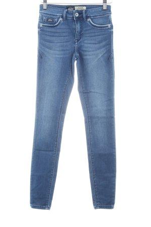 Superdry Jeggings blau Jeans-Optik